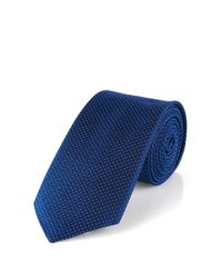 HUGO - Blue Silk Tie: 'tie 6 Cm' for Men - Lyst