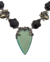 Alexis Bittar - Blue Crystal and Lucite Imperial Bib Necklace - Lyst