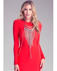 Bebe - Multicolor Fringe Bodychain Necklace - Lyst