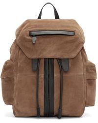 Alexander Wang Natural Camel Suede Marti Backpack for men