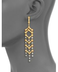 Giles & Brother - Metallic Apache Drop Earrings - Lyst