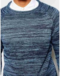 SELECTED | Blue Elected Homme Spacedye Stripe Knitted Jumper for Men | Lyst