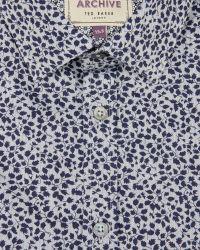 Ted Baker | Blue Leaf Print Shirt for Men | Lyst