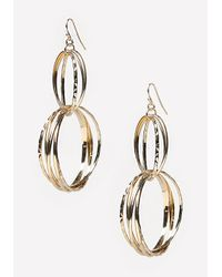 Bebe Metallic Multi-circle Earrings