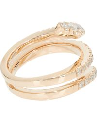 Roberto Marroni | Metallic Diamond & Red Gold Snake Ring | Lyst