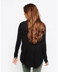 Free People | Thermal Kristina Roll Neck Jumper In Black | Lyst