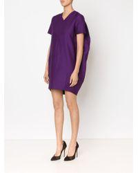 Adam Lippes Purple Cocoon Dress