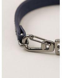 Tod's - Blue Clip Fastening Bracelet for Men - Lyst