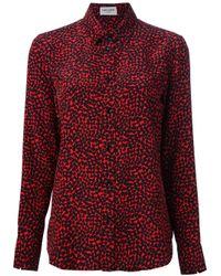 Saint Laurent Red Heart Print Shirt