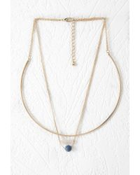 Forever 21 | Metallic Faux Stone Collar Necklace | Lyst