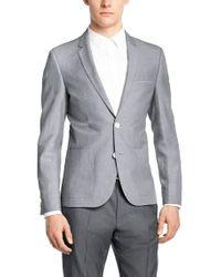 HUGO Gray 'alesono'   Slim Fit, Linen-cotton Mélange Sport Coat for men