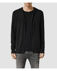 AllSaints | Black Hiru Cashmere Hoody for Men | Lyst