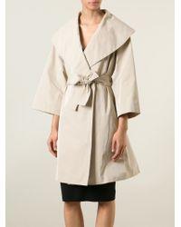 Boutique Moschino Natural Sailor Collar Coat