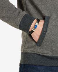 Ted Baker | Black Flat Weave Leather Bracelet for Men | Lyst