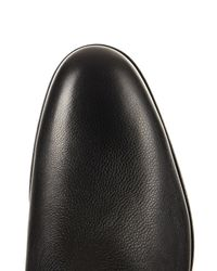 Lanvin | Black Grained-leather Chelsea Boots for Men | Lyst