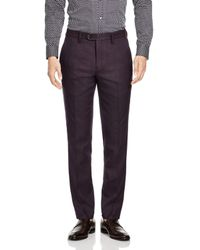 Ted Baker Purple Baytro Birdseye Classic Fit Suit Trousers for men