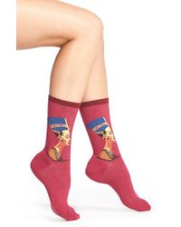 Hot Sox | Red 'nefertiti' Crew Socks | Lyst