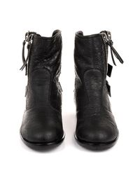 Giuseppe Zanotti Black Slouchy Leather Boots