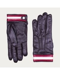 Bally Purple Nappa Leather Gloves Men's Leather Gloves In Brown for men
