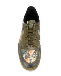 Valentino Green Camubutterfly Low-Top Sneakers for men