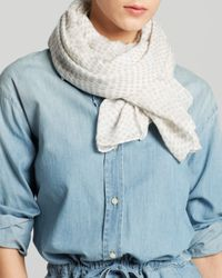 DKNY - Gray Pure Scatter Dot Scarf - Lyst
