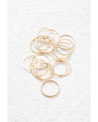 Forever 21 | Metallic Ridged-band Ring Set | Lyst