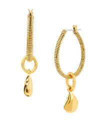 Diane von Furstenberg | Metallic Midnight Kiss Dewdrop Hoop Earrings | Lyst
