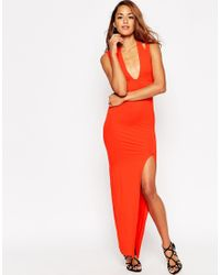 ASOS - Red Double Strap Maxi Dress - Lyst