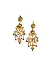 Jose & Maria Barrera | Metallic Filigree Chandelier Drop Earrings | Lyst