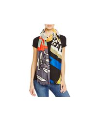 Marc By Marc Jacobs | Protest Scarf - True Blue Multi | Lyst