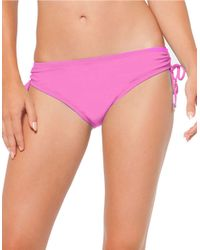 Anne Cole | Pink Alex Solid Swim Hipster | Lyst