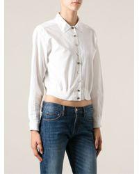 Prada White Short Shirt