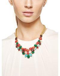 Kate Spade | Metallic Fine Art Charm Necklace | Lyst