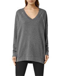 AllSaints Gray Tala Sweatshirt
