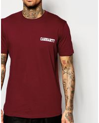 Carhartt WIP Purple College Script T-shirt for men