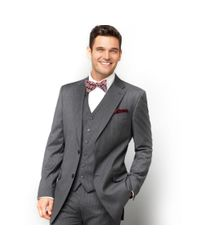 Tommy Hilfiger Gray Jacket Grey Stripe Two-button Classic-fit for men