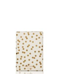 kate spade new york | Natural Cedar Street Confetti Dot Travel Passport Holder | Lyst