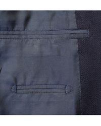 Thom Sweeney Blue Curzon Slimfit Basketweave Wool Blazer for men