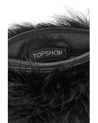 TOPSHOP - Black Zeb Crossbody Pouch - Lyst