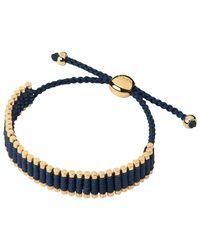 Links of London   Blue Yellow-gold Friendship Bracelet   Lyst