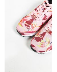Adidas | Pink Originals Zx Flux Floral Print Sneaker for Men | Lyst