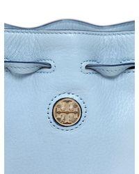 Tory Burch - Blue Mini Brody Leather Bucket Bag - Lyst
