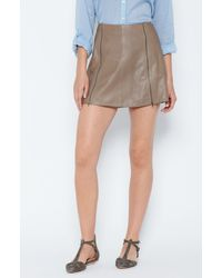 Joie Natural Loula Leather Skirt