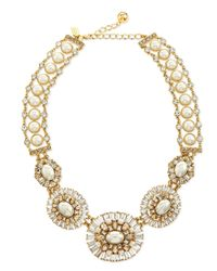 kate spade new york | Metallic Pearly Bead Statement Necklace | Lyst