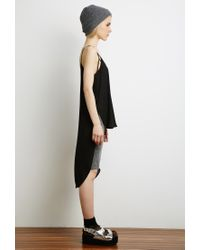 Forever 21 - Black Asymmetrical-hem Cutout Cami - Lyst