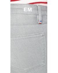 Etienne Marcel Gray Zip Skinny Jeans - Light Grey