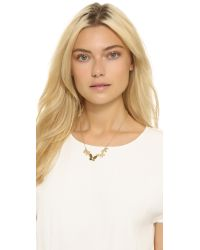 kate spade new york | Metallic All Aflutter Row Necklace - Gold | Lyst