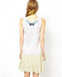 ASOS - Multicolor Sleeveless Top with Cutwork and Floral Embroidery - Lyst