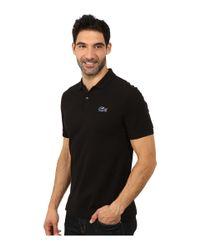 Lacoste | Black L!ve Short Sleeve Stretch Pique Croc Polo for Men | Lyst