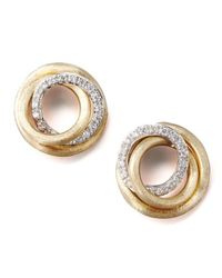 Marco Bicego | Metallic Jaipur Diamond-link Stud Earrings | Lyst